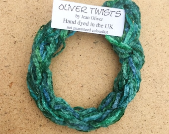 Silk Chenille No.20 Jade, Hand Dyed Embroidery Thread, Artisan Thread, Textured Silk Thread, No.20 Jade