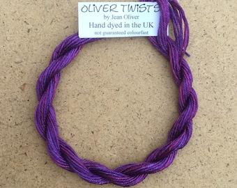 Silk Como No.05 Violet, Hand Dyed Embroidery Thread, Artisan Thread, Textile Art, No.05 Violet
