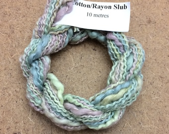 Cotton/Rayon Slub, No.22 Silver Birch, Hand Dyed Embroidery Thread, Textured Embroidery Thread, Variegated Thread, Canvaswork, Needlepoint,