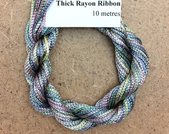 Thick Viscose Ribbon 3/660, Colour No.56 Pebble, Hand Dyed Embroidery Thread, Canvaswork, Needlepoint