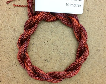 Hand Dyed 3600/2 Viscose Cord, Colour No.12 Terra Cotta, Rayon II, Embroidery, Thread, Needlepoint