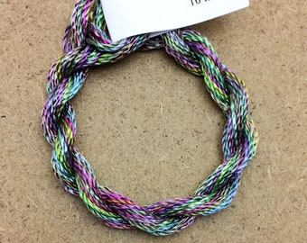 Hand Dyed 3600/2 Viscose Cord, Colour No.57 Oil Slick, Rayon II, Embroidery, Thread, Needlepoint