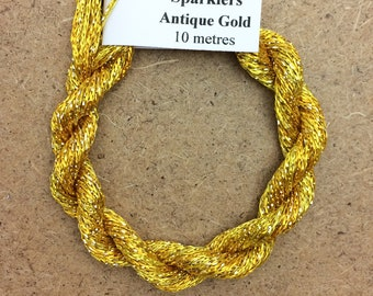 4/167 Viscose Sparkle Chainette with Gold Lurex, No.51 Daffodil, 10m (11 yards) skein, Embroidery Thread