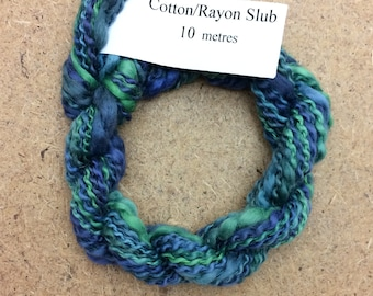 Cotton/Rayon Slub, No.53 Spruce, Hand Dyed Embroidery Thread, Textured Embroidery Thread, Variegated Thread, Canvaswork, Needlepoint,