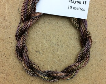 Hand Dyed 3600/2 Viscose Cord, Colour No.01 Chocolate, Rayon II, Embroidery, Thread, Needlepoint