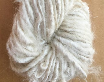 Banana Yarn, Banana Silk Yarn, Natural Banana Fibre Yarn, Artisan Yarn, Colour - Ivory