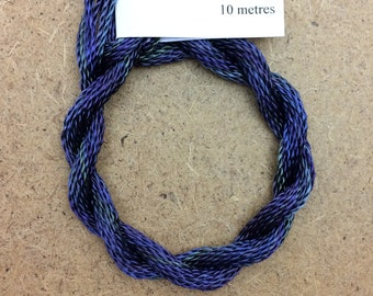 Hand Dyed 3600/2 Viscose Cord, Colour No.53 Spruce, Rayon II, Embroidery, Thread, Needlepoint