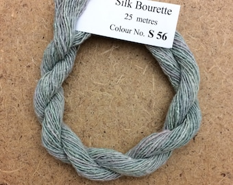 Silk Bourette No.56 Pebble, Hand Dyed Embroidery Thread, Artisan Thread, Textile Art