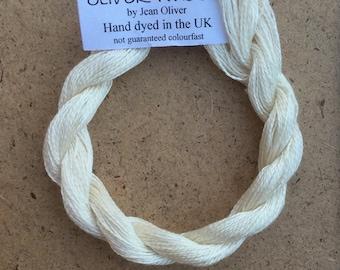 Silk 30/2 weight Yarn, 30m (33 yards) Mulberry Silk Yarn, Embroidery, Weaving Yarn, Crochet Yarn, Natural, Undyed, Ivory,