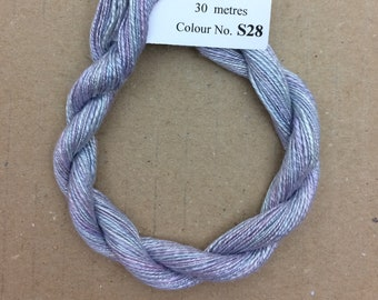 Silk Flamme No.28 Palma Violet,Hand Dyed Embroidery Thread, Artisan Thread, Textile Art