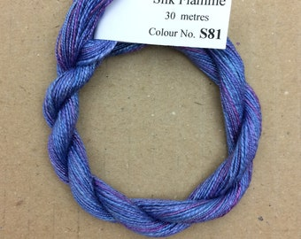Silk Flamme No.81 Bluebell, Hand Dyed Embroidery Thread, Artisan Thread, Textile Art