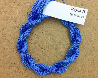 Hand Dyed 3600/2 Viscose Cord, Colour No.03 Sky, Rayon II, Embroidery, Thread, Needlepoint