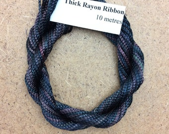 Thick Viscose Ribbon 3/660, Colour No.71 Chestnut, Hand Dyed Embroidery Thread, Canvaswork, Needlepoint