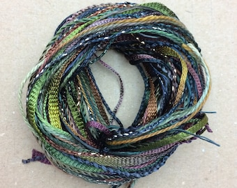 Tidbits, Peat Bog, Hand Dyed Embroidery Threads, Creative Embrodery