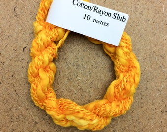 Cotton/Rayon Slub, No.51 Daffodil, Hand Dyed Embroidery Thread, Textured Embroidery Thread, Variegated Thread, Canvaswork, Needlepoint,