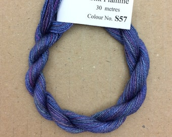 Silk Flamme No.57 Oil Slick, Hand Dyed Embroidery Thread, Artisan Thread, Textile Art