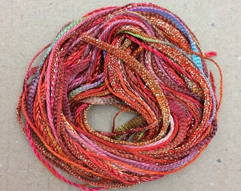 Tidbits, Burnt Orange, Hand Dyed Embroidery Threads, Creative Embrodery