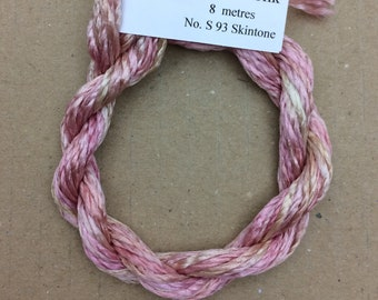 Silk Filament No.93 Skintone, Embroidery Thread, Hand Dyed Embroidery Thread, Artisan Thread, Textile Art