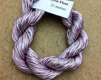 Thick Rayon Floss, Pale Dusky Pink, Viscose Floss, 9 Strand Viscose Floss, Embroidery Thread, Braidmaking, Kumihimo