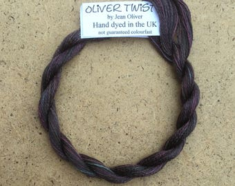 Silk 30/2 No.19 Black Cherry, Embroidery Thread, Hand Dyed Embroidery Thread, Artisan Thread, Textile Art