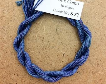 Silk Como, No.57 Oil Slick, Hand Dyed Embroidery Thread, Artisan Thread, Textile Art