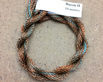 Hand Dyed 3600/2 Viscose Cord, Colour No.21 Rust, Rayon II, Embroidery, Thread, Needlepoint