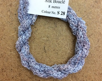 Silk Boucle No.28 Palma Violet, Hand Dyed Embroidery Thread, Artisan Thread, Textile Art