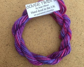 Silk Lopi, No.05 Violet, Embroidery Thread, Hand Dyed Embroidery Thread, Artisan Thread, Textile Art