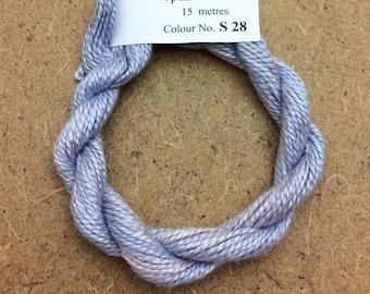 Silk 8/2 No.28 Palma Violet, Embroidery Thread, Hand Dyed Embroidery Thread, Artisan Thread, Textile Art