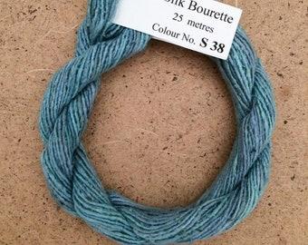 Silk Bourette No.38 Hydrangea, Hand Dyed Embroidery Thread, Artisan Thread, Textile Art