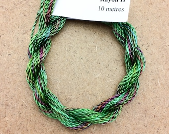 Hand Dyed 3600/2 Viscose Cord, Colour No.09 Apple, Rayon II, Embroidery, Thread, Needlepoint