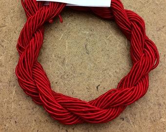 Viscose Gimp Thread, Christmas Red, Hand Dyed, Rayon Gimp, 10 metres