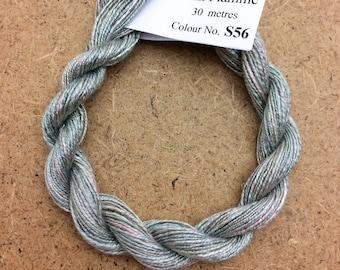 Silk Flamme No.56 Pebble, Hand Dyed Embroidery Thread, Artisan Thread, Textile Art