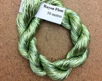 Rayon Floss, Hand Dyed 4 Strand Viscose Floss, Colour No.23 Pussy Willow, Hand Dyed Viscose Floss, Embroidery Thread, Braidmaking, Kumihimo