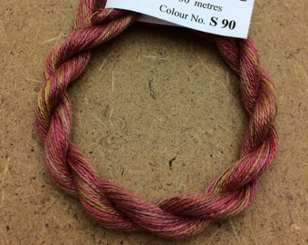 Silk 30/2, No.90 Russet, Embroidery Thread, Hand Dyed Embroidery Thread, Artisan Thread, Textile Art