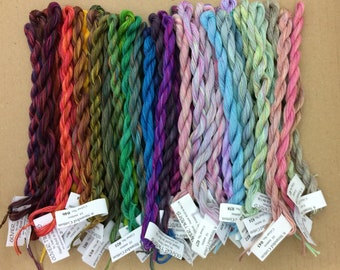 10% Discount, 6 STRANDED COTTON, Complete set of 52 colours, Hand Dyed Embroidery Thread, Embroidery Floss, 30/2 weight x 6 Strands