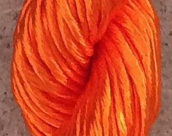Thick Rayon Floss, Colour Bright Orange, Viscose Floss, 9 Strand Viscose Floss, Embroidery Thread, Braidmaking, Kumihimo