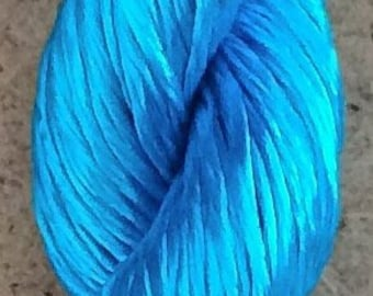 Rayon Floss, Colour Bright Turquoise, Viscose Floss, 4 Strand Viscose Floss, Embroidery Thread, Braidmaking, Kumihimo