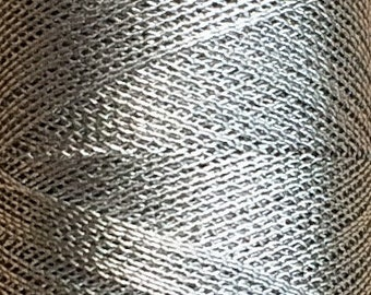 Metallic Thread, Luxury Spaced Gimp, Silver, 150m (164yards)