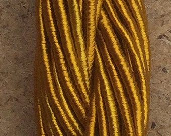 Viscose Gimp Thread,  Hand Dyed Gimp, Viscose Gimp, Turmeric, 10 metres,