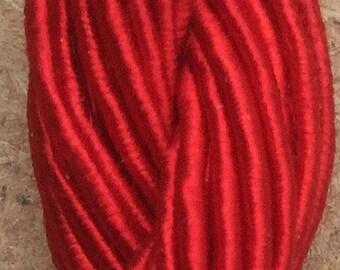 Viscose Gimp Thread,  Hand Dyed Gimp, Viscose Gimp, Scarlet, 10 metres,