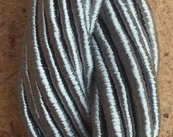 Viscose Gimp Thread,  Hand Dyed Gimp, Viscose Gimp, Silver Grey, 10 metres,