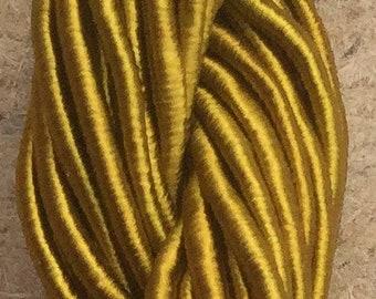 Viscose Gimp Thread,  Hand Dyed Gimp, Viscose Gimp, Khaki, 10 metres,