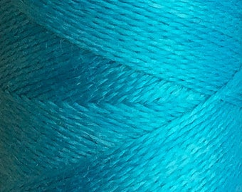 Bright Turquoise, Hand Dyed Silk Machine Thread, Individual Spool 120m, Machine Embroidery, Machine Quilting