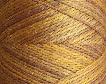 No.07 Yellow Ochre, Hand Dyed Silk Machine Thread, Individual Spool 120m, Machine Embroidery, Machine Quilting