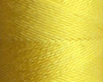 Bright Yellow, Hand Dyed Silk Machine Thread, Individual Spool 120m, Machine Embroidery, Machine Quilting