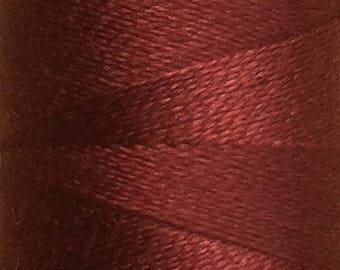 Maroon, Silk Machine Threads, 100% Mulberry Silk, Plain Dyed, Luxury Silk Threads, Spun Silk, Solid Colours, 300m, 325yds
