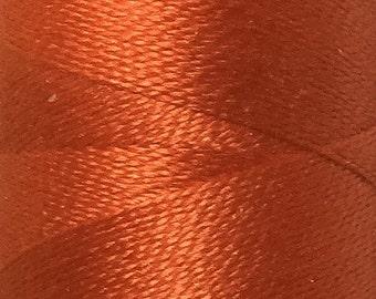 Orange, Silk Machine Threads, 100% Mulberry Silk, Plain Dyed, Luxury Silk Threads, Spun Silk, Solid Colours, 300m, 325yds