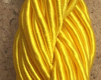 Viscose Gimp Thread, Lemon, Hand Dyed Gimp, Viscose Gimp, 10 metres,