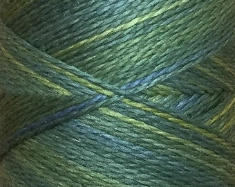 No.04 Evergreen, Hand Dyed Silk Machine Thread, Individual Spool 120m, Machine Embroidery, Machine Quilting
